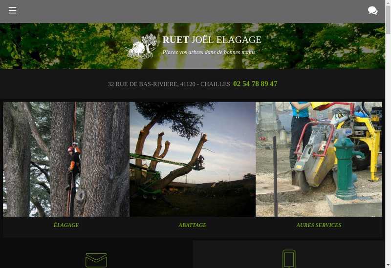 Capture d'écran du site de Joel Ruet