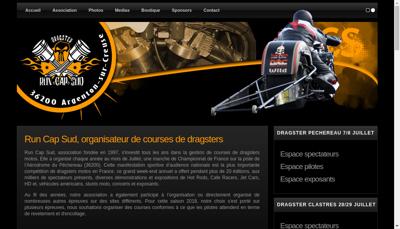Capture d'écran du site de Run Cap Sud