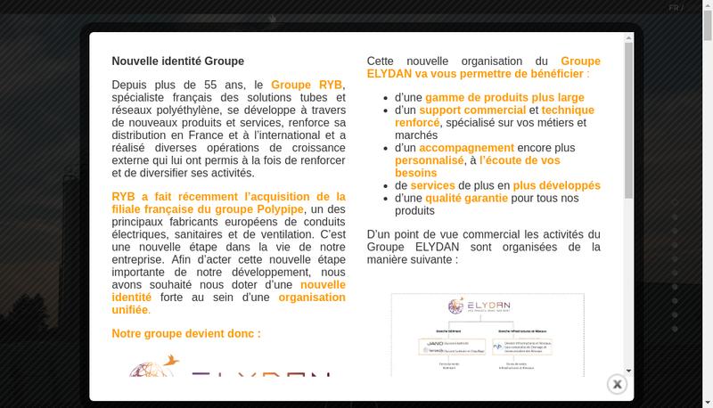Capture d'écran du site de Terrendis France