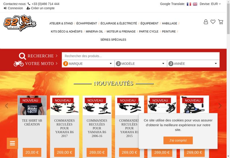 Capture d'écran du site de S2 Concept