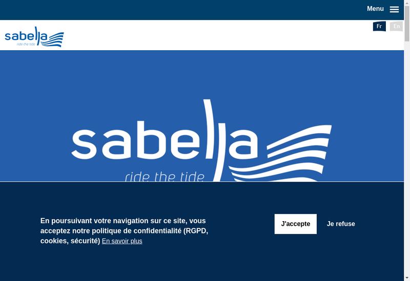 Capture d'écran du site de Sabella