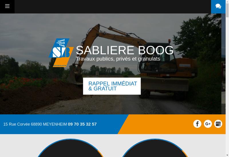 Capture d'écran du site de Sabliere Boog