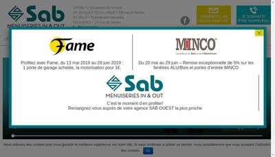 Site internet de Sab Ouest