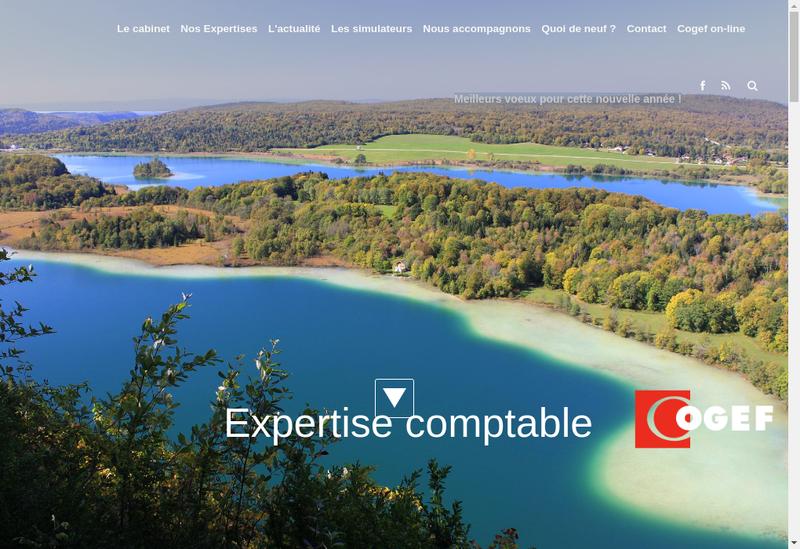 Capture d'écran du site de Cogef