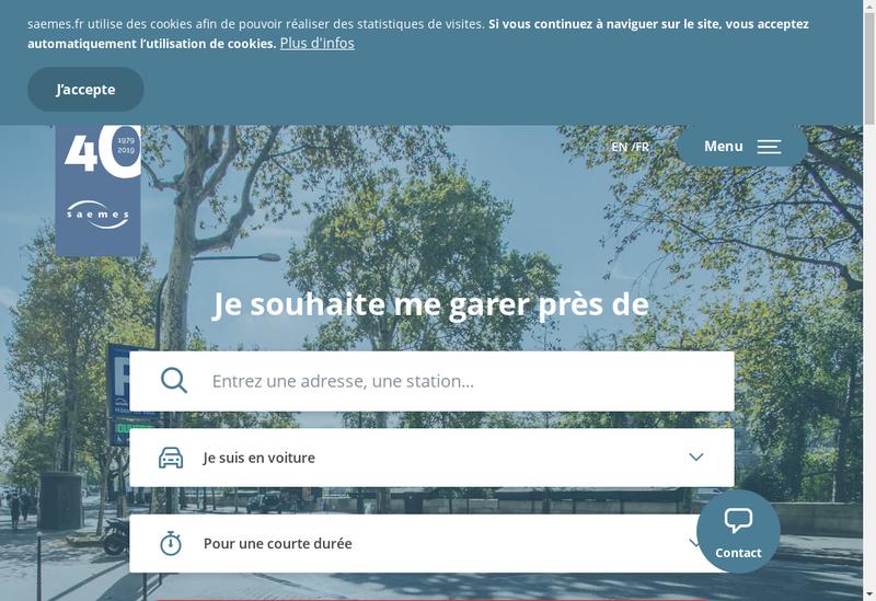 Capture d'écran du site de Saem Exploitation Stationnem Ville Par
