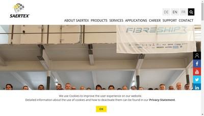 Site internet de Saertex France
