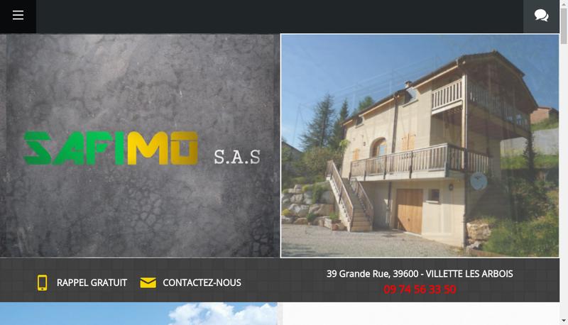 Capture d'écran du site de Safimo