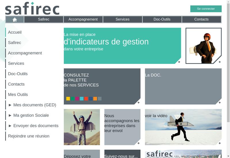 Capture d'écran du site de Safirec Conseil