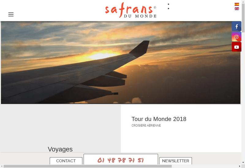 Capture d'écran du site de Safrans du Monde