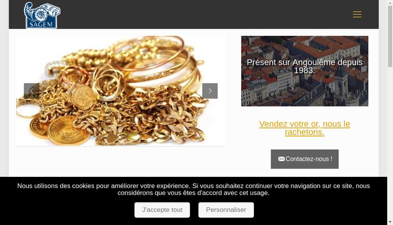 Capture d'écran du site de Societe Angoumoisine de Gemmologie