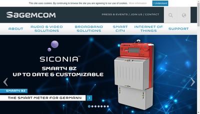 Site internet de Sagemcom Broadband SAS
