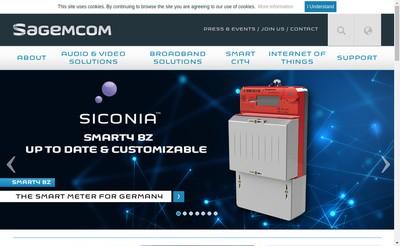 Site internet de Sagemcom Energy & Telecom SAS