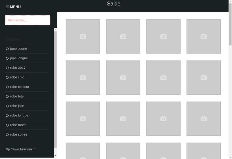 Capture d'écran du site de S.A.I.D.E