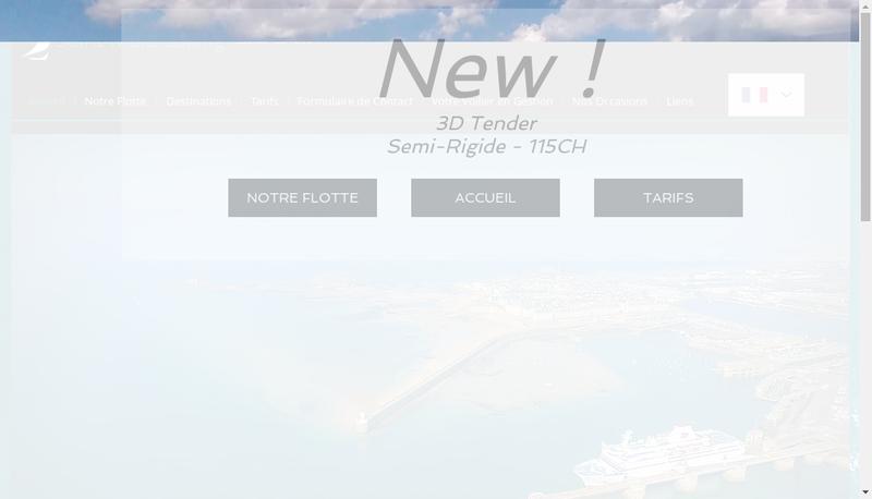 Capture d'écran du site de Saint Malo Sailing