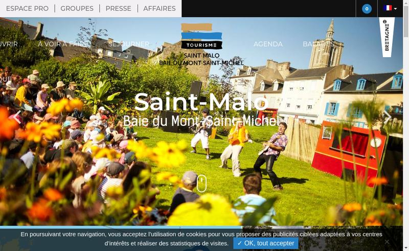 Capture d'écran du site de Saint Malo Station Voile
