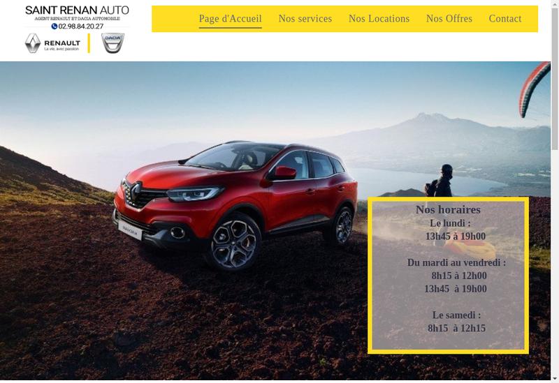 Capture d'écran du site de Saint Renan Auto