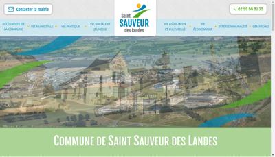Capture d'écran du site de SARL Taxis des Landes