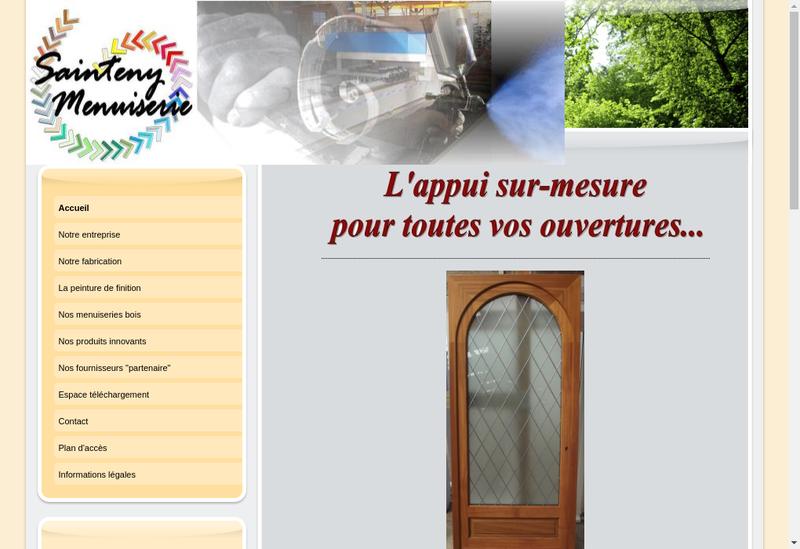 Capture d'écran du site de Sainteny Menuiseries