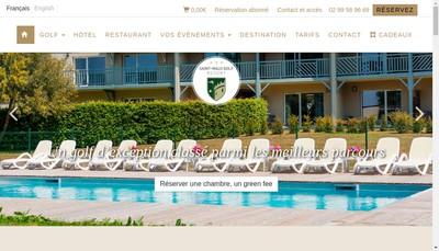 Site internet de Saint Malo Golf Club