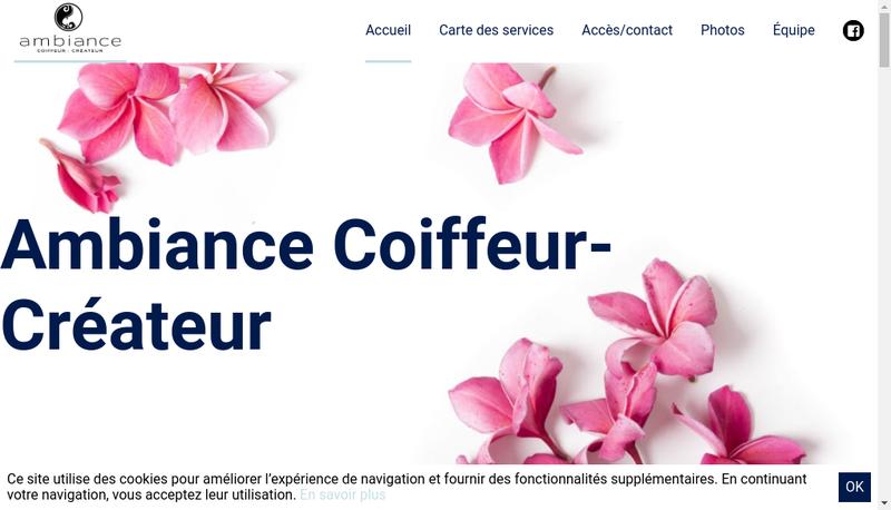 Site internet de Ambiance Coiffeur-Createur
