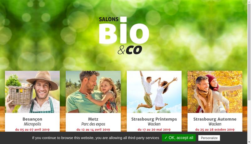 Capture d'écran du site de Bio & Co