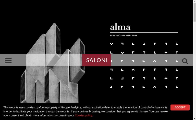 Capture d'écran du site de Saloni France