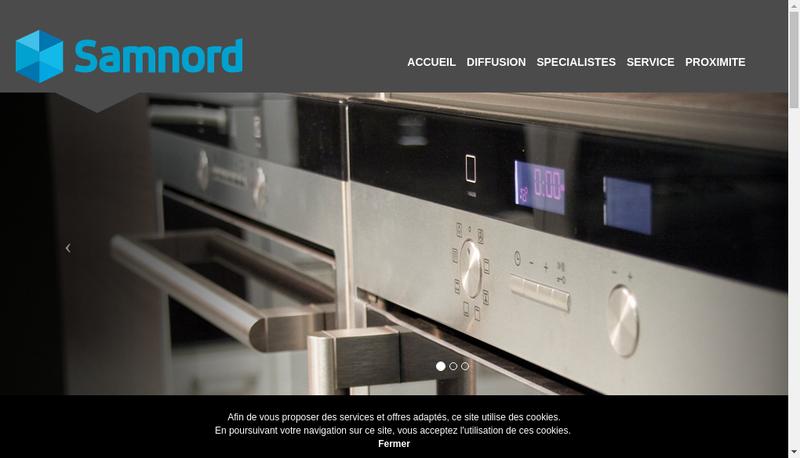 Capture d'écran du site de Samnord
