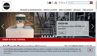 Site internet de Samson Regulation