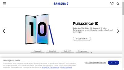 Site internet de Samsung