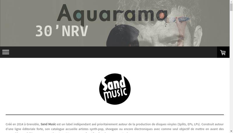Capture d'écran du site de Sand Music