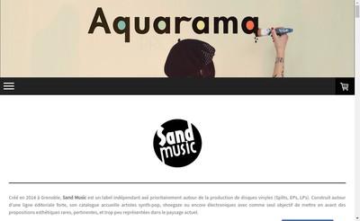 Site internet de Sand Music