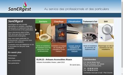 Site internet de Sanergest