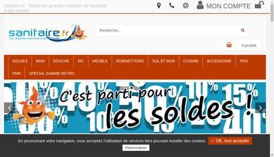 Site internet de Sanitaire Fr