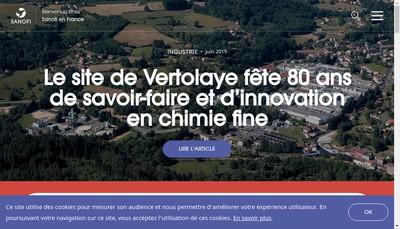 Site internet de Sanofi-Aventis Groupe