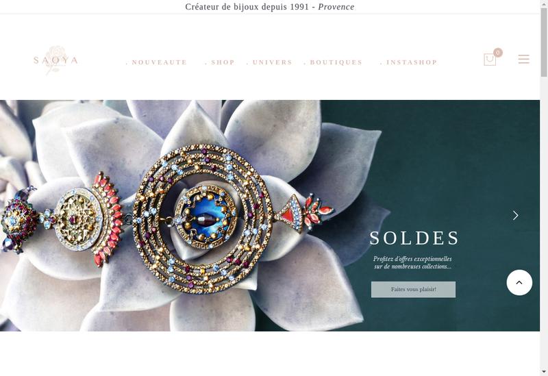 Capture d'écran du site de Saoya