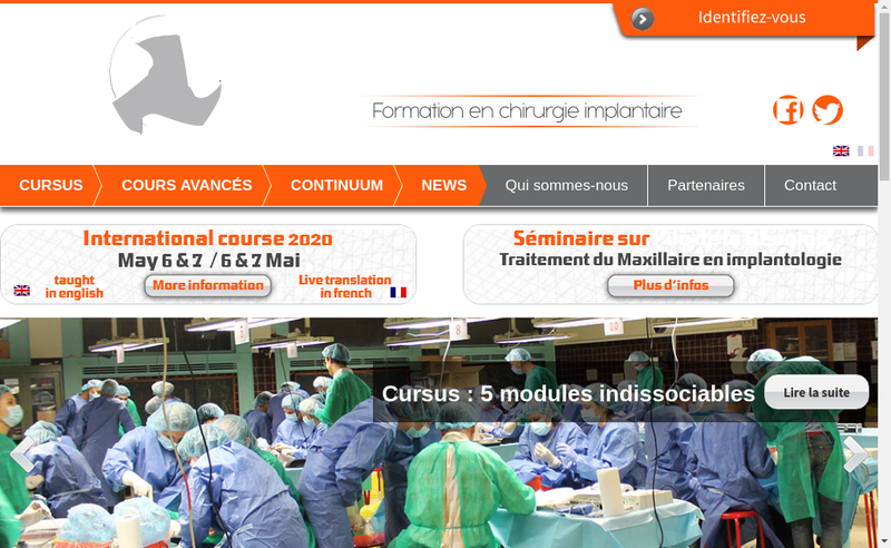 Capture d'écran du site de Sapo Implant