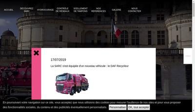 Site internet de Sarc Assainissement