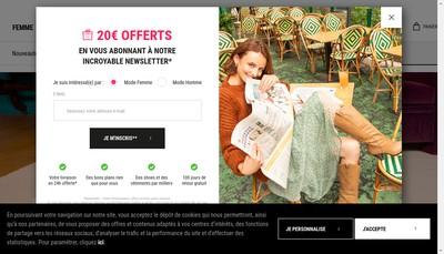Site internet de Monoprix Online