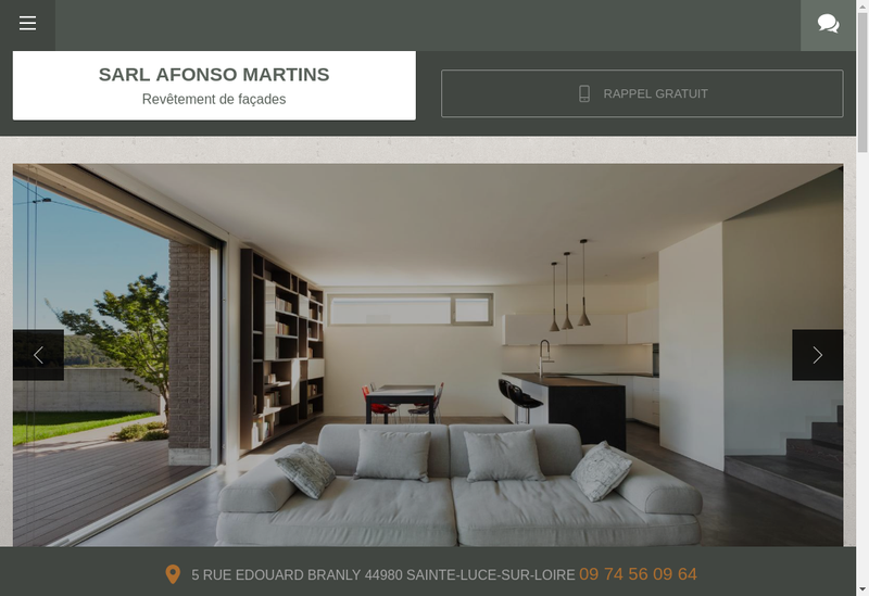 Capture d'écran du site de Afonso Martins