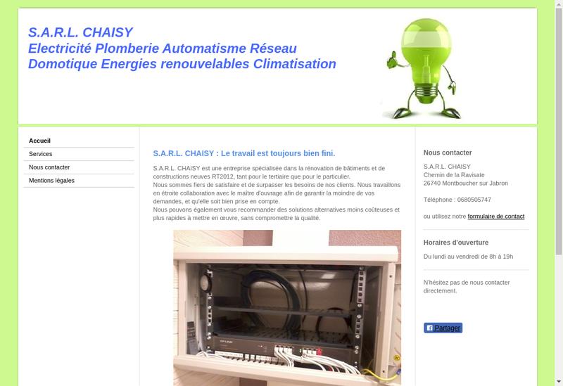 Capture d'écran du site de Chaisy
