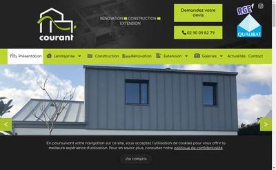 Site internet de EURL Courant