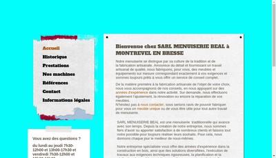 Site internet de Menuiserie Beal