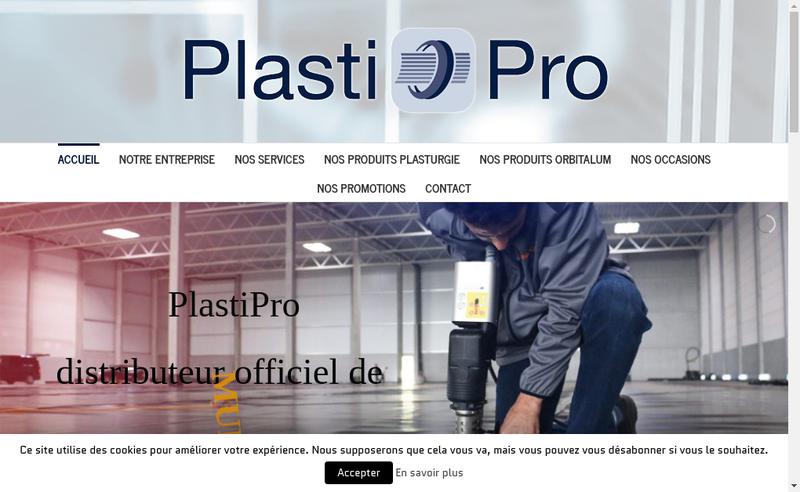 Capture d'écran du site de Plastipro
