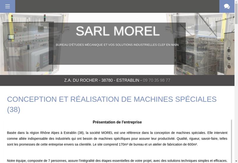 Capture d'écran du site de Morel