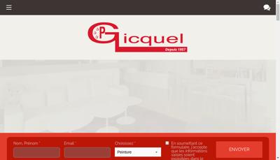 Capture d'écran du site de Societe Pierre Gicquel