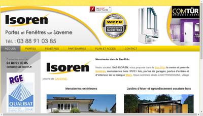 Capture d'écran du site de Isoren