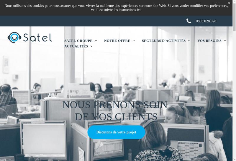 Capture d'écran du site de Satel