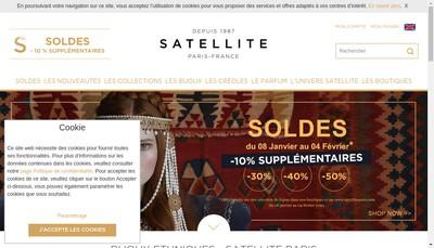 Site internet de Satellite-Paris