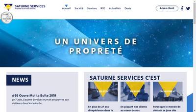 Site internet de Saturne Services