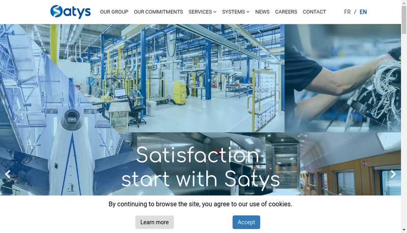Capture d'écran du site de Satys Sealing & Painting Group